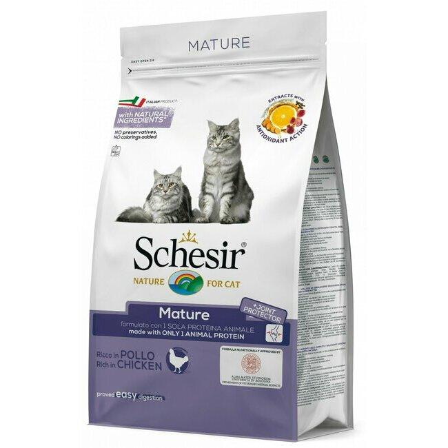 alimentation du chat croquettes naturelles ou bio croquettes pour chat senior au poulet. Black Bedroom Furniture Sets. Home Design Ideas