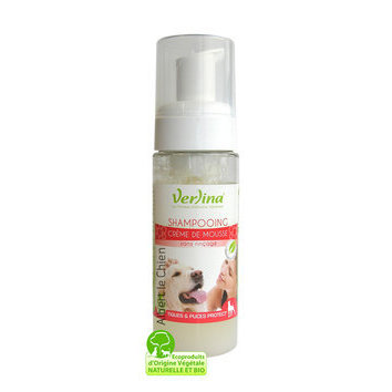 Shampooing mousse antiparasitaire pour chien