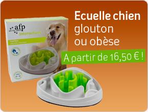 Ecuelle pour chien glouton ou obèse