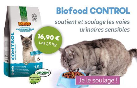 croquettes Biofood pour chat Control pour voies urinaires