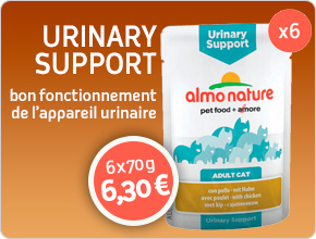 bon fonctionnement appareil urinaire du chat Almo Nature
