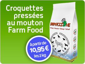 croquettes naturelles pressées au mouton pour chien Farm Food