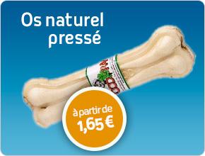 os naturel pressé pour chien