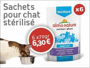 sachets naturels pour chats stérilisés Almo Nature