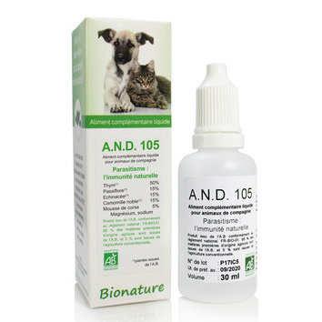A.N.D. 105 Défenses naturelles contre le parasitisme 30 ml Bionature