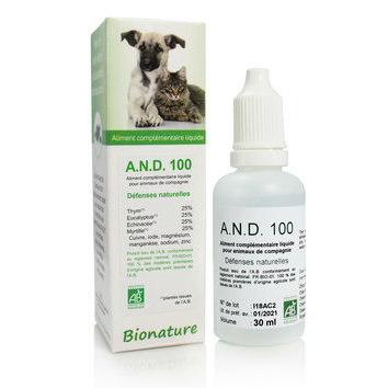A.N.D. 100 Défenses naturelles 30 ml Bionature
