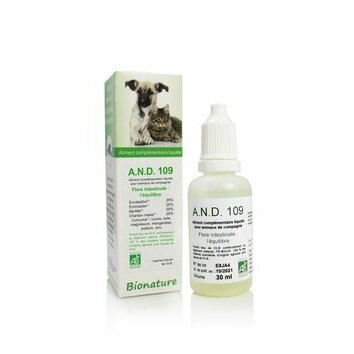 A.N.D. 109 Equilibre de la flore intestinale 30 ml Bionature