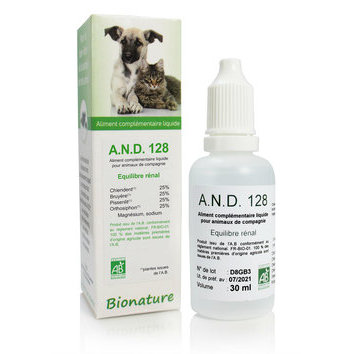 A.N.D. 128 Equilibre rénal 30 ml Bionature