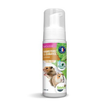 Shampooing sec Mousse Hamsters et Cobayes