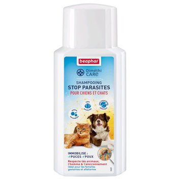 Shampooing Stop Parasites chien chat Diméthicare 200 ml Beaphar