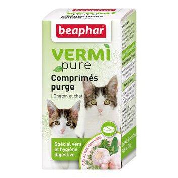soins et hygi ne du chat hygi ne intestinale vers parasites vermipure comprim s purge. Black Bedroom Furniture Sets. Home Design Ideas