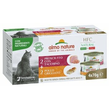 Multipack chat HFC Natural Made in Italy Almo Nature 4 x 70 g