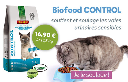 croquettes Biofood Control pour chat